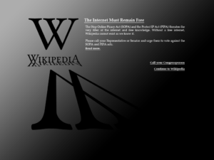Wikipedia and SOPA