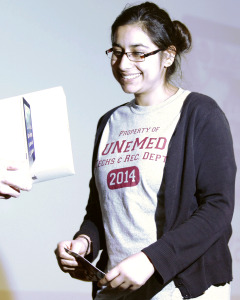 Divya Bhagirath was the 2014 winner of a free iPad.