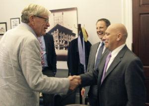 BRad Ashord meets Sam Al-Murrani and Michael Dixon.