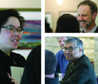 The first UNMC-UNO Innovation Accelerator Gathering was held earlier this week, an event that was organized in part by the UNMC Department of Emergency Medicine's Research Coordinator, Thang Nguyen (at left). UNeMed's Michael Dixon (upper right) and Deepak Khazanchi, Associate Dean of UNO's College of Information Science and Technology. were also on hand.